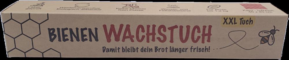 Bienenwachstuch XXL für Brot – Imkerei-Webers-honigtopf XXL Tuch-selbstgemachte Bienenwachstücher-plastikfreie Verpackung